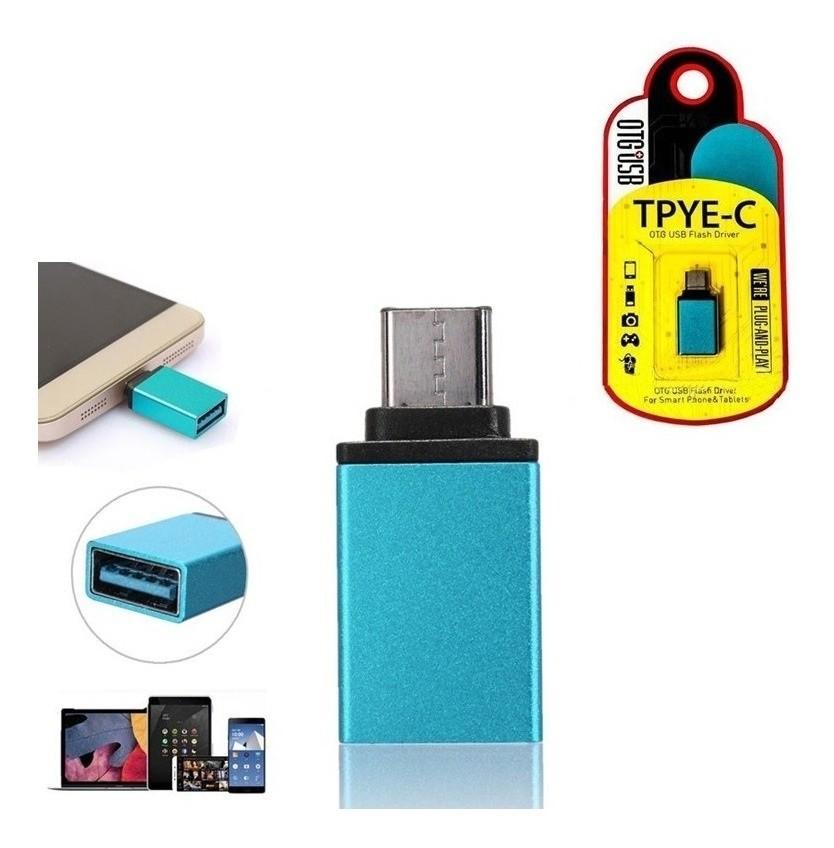 Adaptador Usb 3.0 Femea Pra Usb 3.1 Tipo C Otg Kk-201 Pen Drive16.09.014