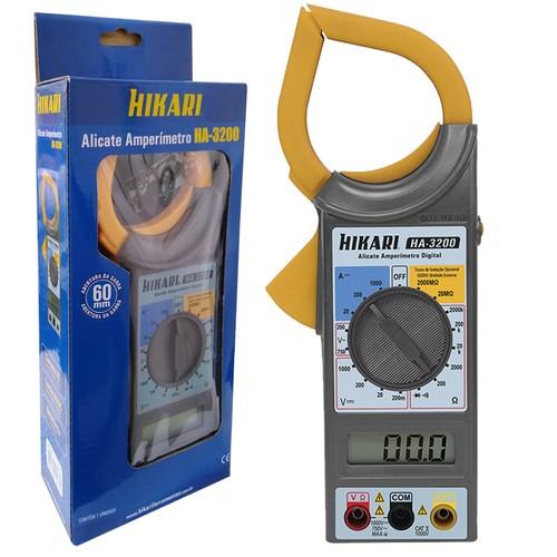 Alicate Amperimetro Digital HA3200 Hikari 21N260