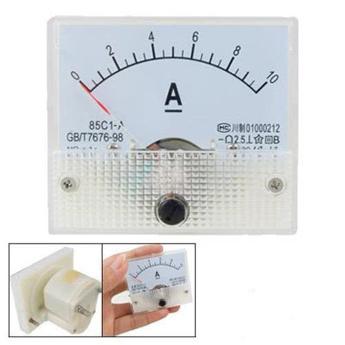 Amperímetro Analógico DC 0 - 10A - Grande - 85C1 46.055.6