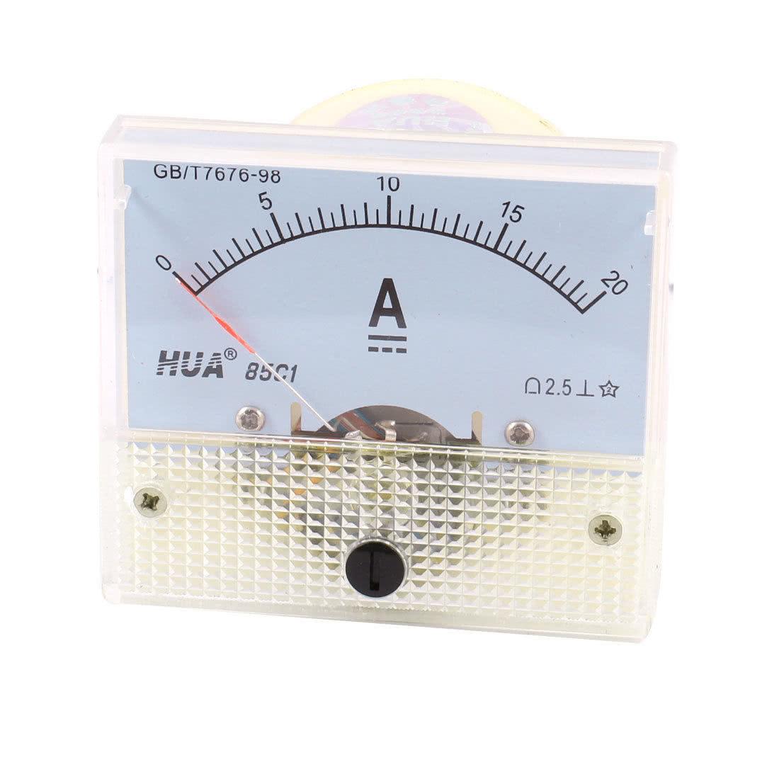 Amperímetro Analógico DC 0 - 20A - Grande - 85C1 - 46.055.3