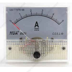 Amperímetro Analógico DC 0 -  5A - Grande - 85C1 - 46.055.5