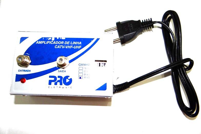 Amplificador de Linha 30dB Profissional Proeletronic 26.065.1