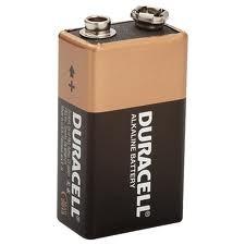 *Bateria 9V Alcalina Duracell 45.04.004