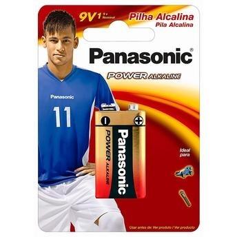 *Bateria 9V Alcalina Panasonic
