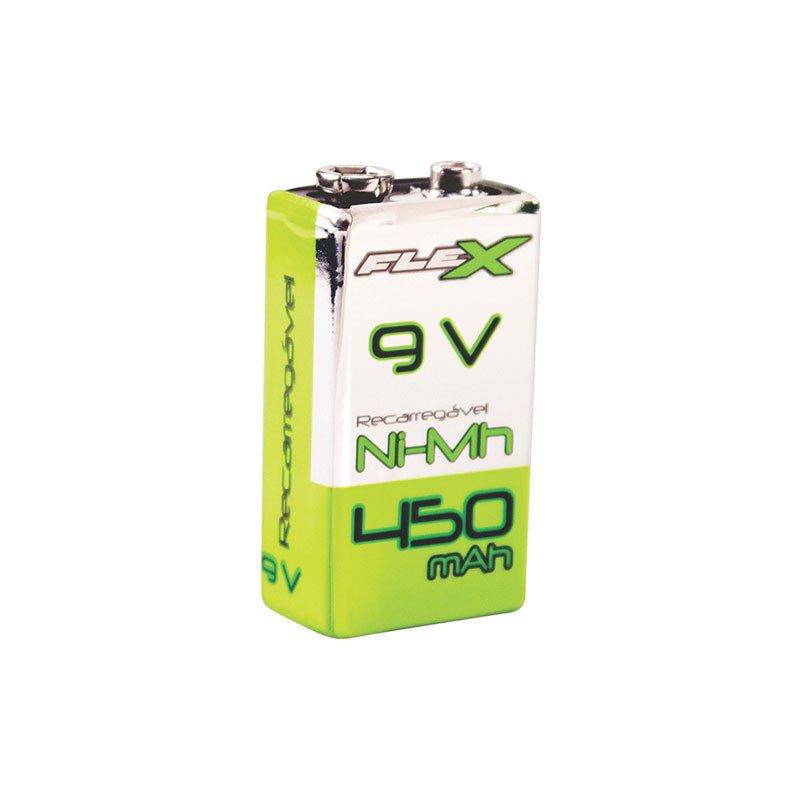 *Bateria 9V Recarregavel NiMh Flex XXC FX-9V 45.04.001