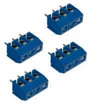 Borne KRA Encaixe 3 Vias Azul 180 Graus FK300 5.0 300V 12A 28.076