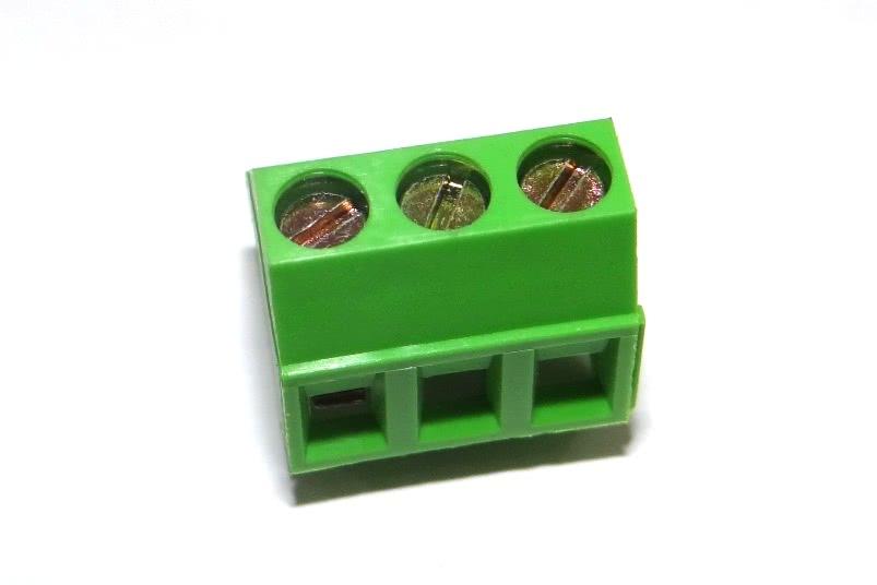 Borne KRE Encaixe 3 Vias 45 Graus Verde WJ103 5.0 300V 16A 24-12AWG28.050.6.1