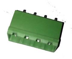 Borne KRE para Circuito Impresso 4 Terminais Verde 28.063.1VD