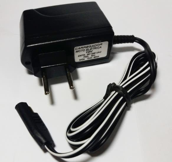 Carregador Bateria 12V X 900mA Hermafrodita 45.02.044