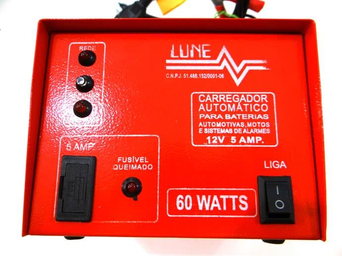 Carregador Bateria 13,8V X 5A Automatico Lune