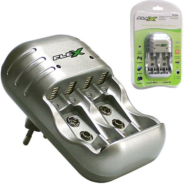 Carregador de Pilhas 4 AAA/ 4 AA/9V  XXC FX-C03  45.02.024