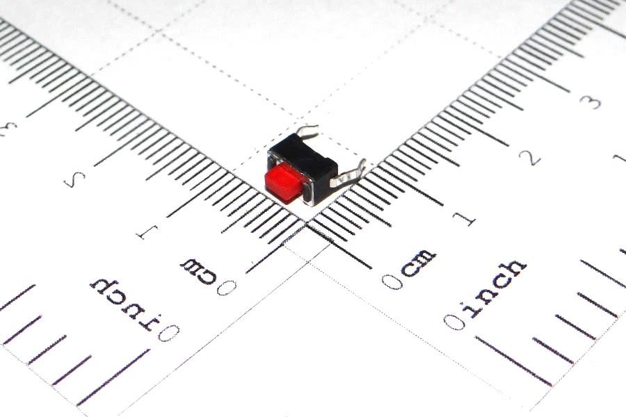 Chave Toque 3x6x5mm 2 Terminais Vermelha A1 57.01.027
