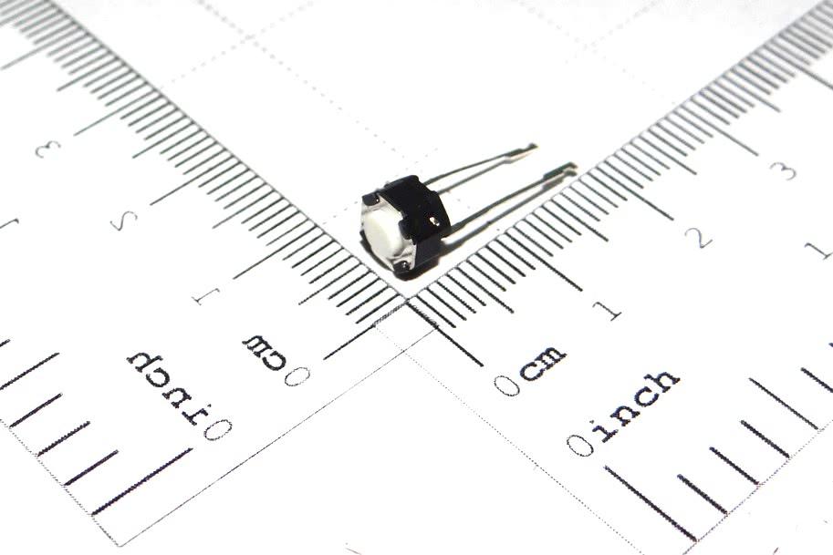 Chave Toque 6x6x 4,3mm 2 Terminais Base Redonda A2 57.01.031