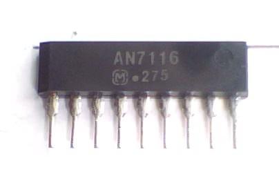 Circuito Integrado AN7116 Amplificador Audio  CI 10