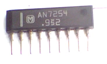 Circuito Integrado AN7254 Amplificador Am/Fm Fi CI 12