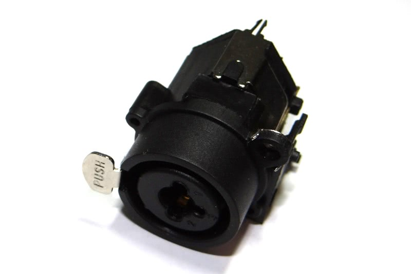Conector Canon Femea Combo P10 Painel Solda Placa 27.006.07 CX109