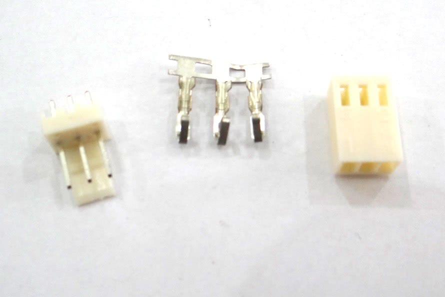 Conector JST Macho e Femea 2,54mm 3 Pinos 27.08.003