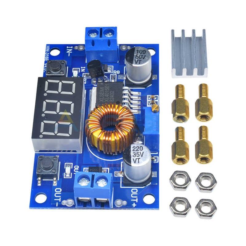 Conversor Ajustável DC-DC Ent=4-40V Sai=1,25-37V Display StepDown 46.059