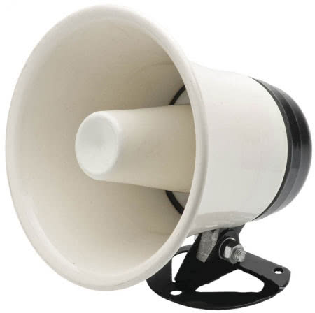Corneta Metálica 5 Pol 4 R 10W Branca 49.090BR