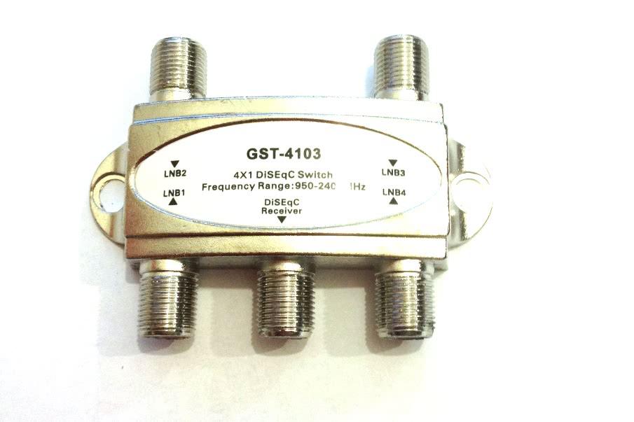 Divisor 4 Saidas Metal 950-2400MHz DISEQ 26.019.7