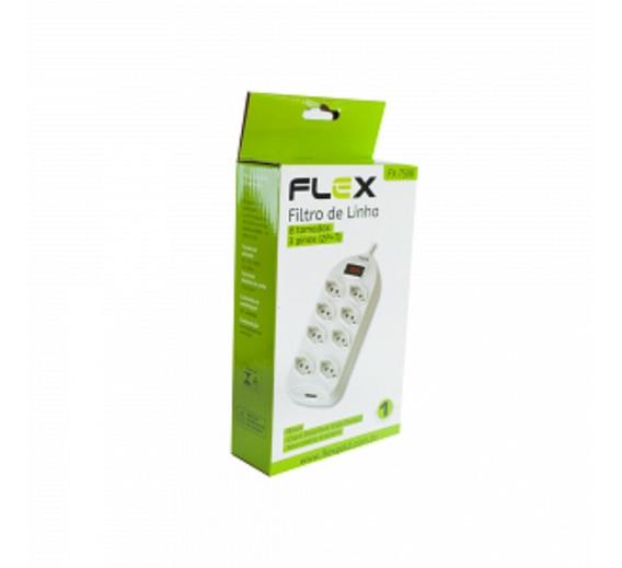 Filtro de Linha  8 Tomadas Plastico XXC FX-7508 47.386.8BR