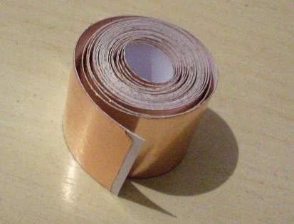 Fita de Cobre Adesiva - Blindagem de instrumentos 5cm - o metro - 70.049