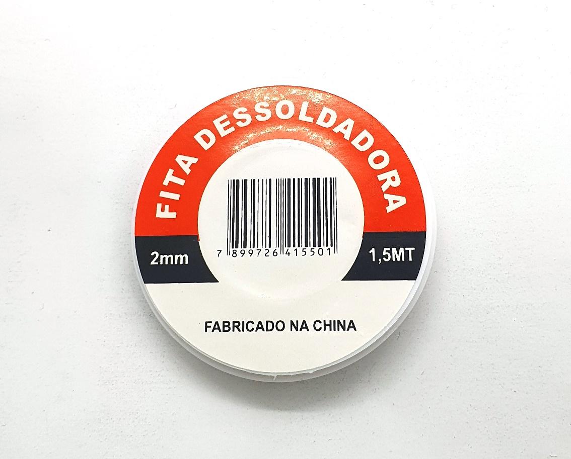 Fita Dessoldadora 2,0mm - 1.5  Mallha 50.064