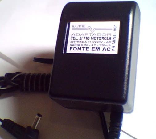 Fonte  6,8V X  250mA P4 mini AC Lune