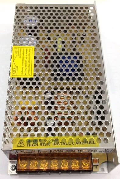 Fonte Metalica Chaveada 12V 16.5A/15A MS-200W 48.153
