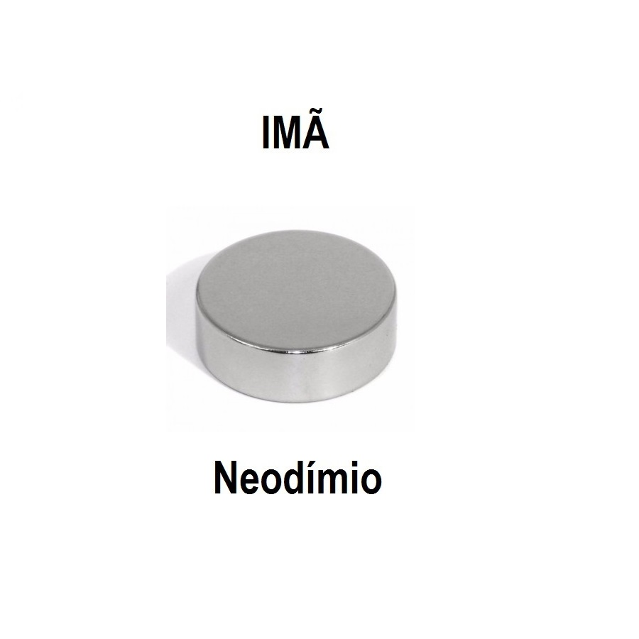 Imã de Neodímio Cilíndrico NdFeB 30x10mm N50 Gauss 10.30.015