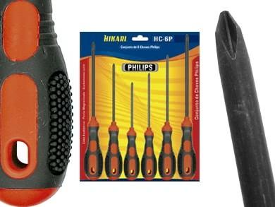 Jogo de Chave de Philips ( 6 Peças ) HC6P Hikari 21B009