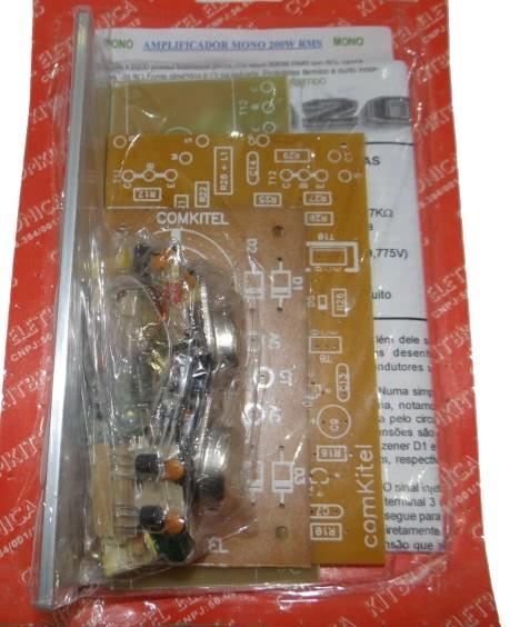 Kit Amplificador Mono 200W KB200K Comkitel 43.06.012