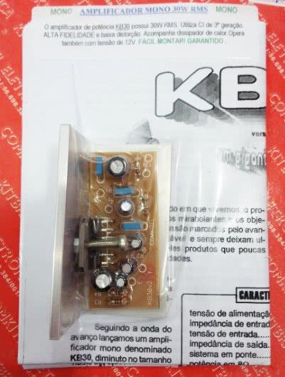 Kit Amplificador Mono 30W Montado Comkitel 43.06.010