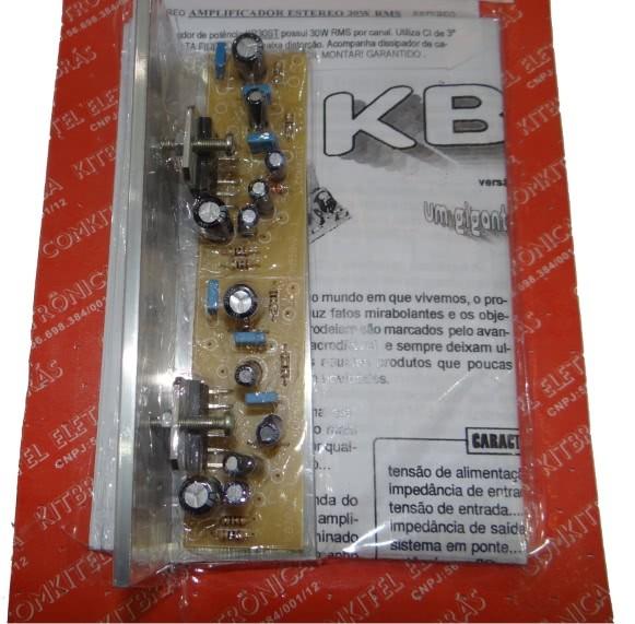 Kit Amplificador Stereo 2x30w Montado KB30S Comkitel 43.06.009