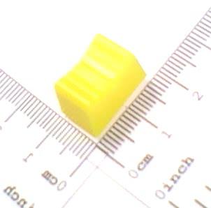 Knob Deslizante 17x10mm Eixo 1x4mm Amarelo 32.13.003AM
