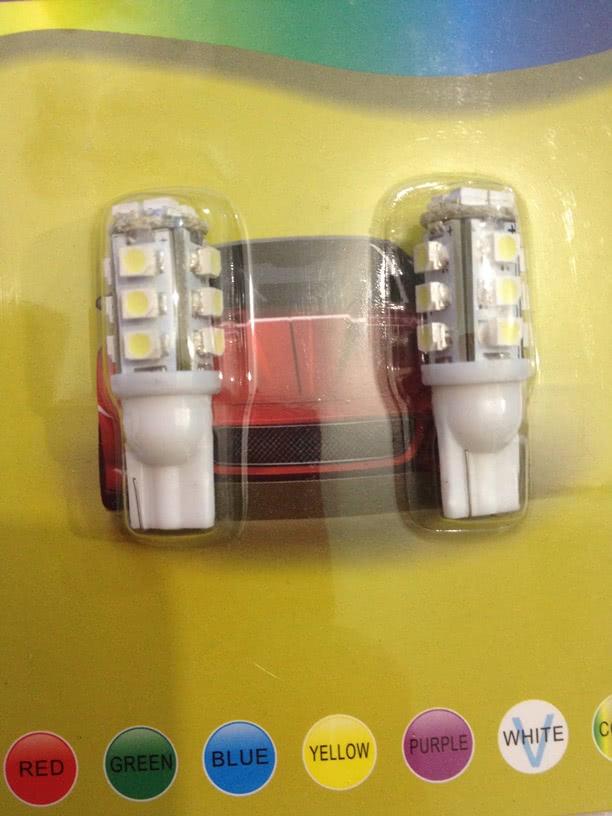 Lampada 12V X LEDS com 16 SMD T10 6551 Auto com 2 Peças 22.030