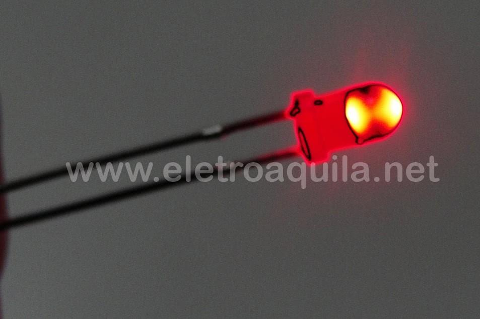 LED  3mm Vermelho Transparente 23.093