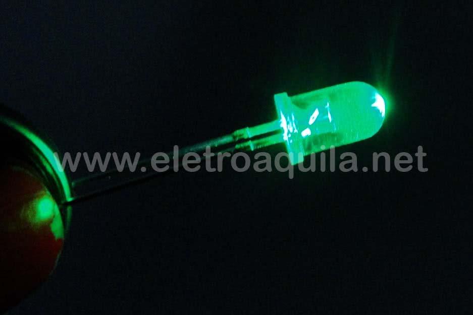 LED  5mm Verde Transparente 23.036
