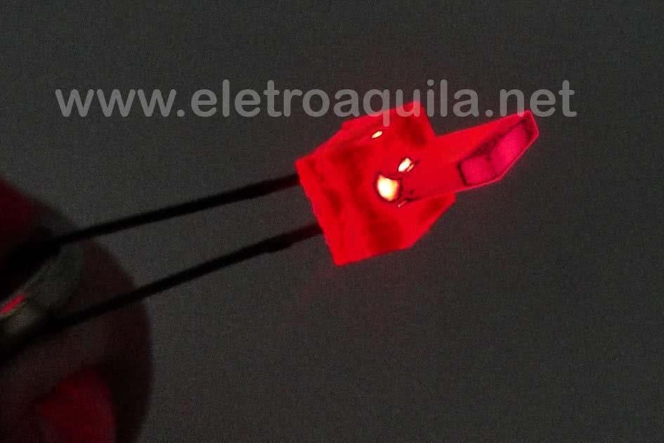 LED  6x1mm Vermelho Retangular 23.063