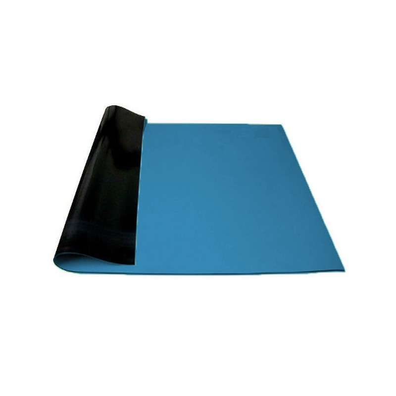 Manta Anti-Estática 1,2 m x 1,0 m x 2mm Azul Hikari 21J295