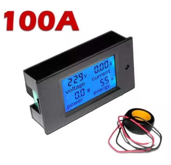 Medidor 4x1 Tensão Corrente Potência Energia 260v - 100A 46.073