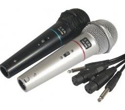 Microfone com Fio Dinamico Preto/Prata TOZZ O PAR  49.04.013
