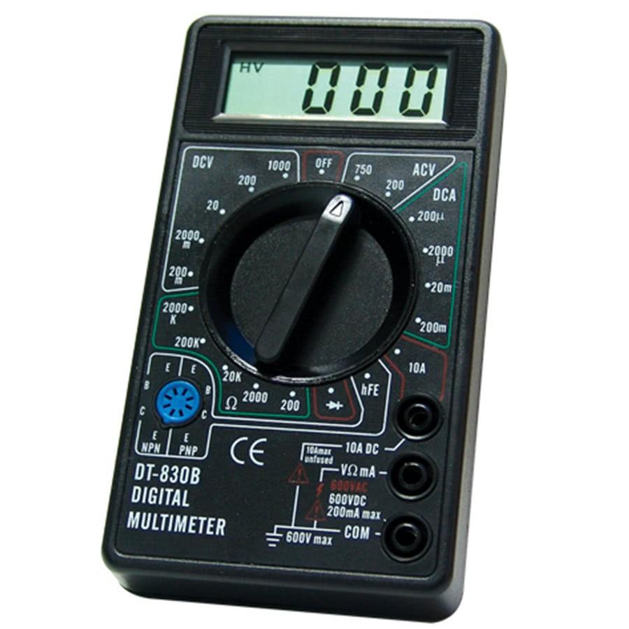 Multimetro Digital DT830B Preto