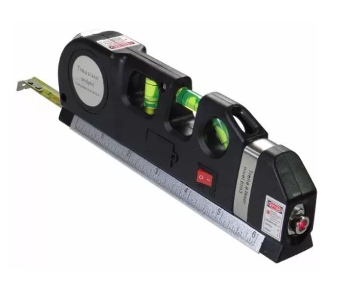Nível a Laser Horizontal Vertical Prumo Trena 2.5mt 45 Graus 75.011