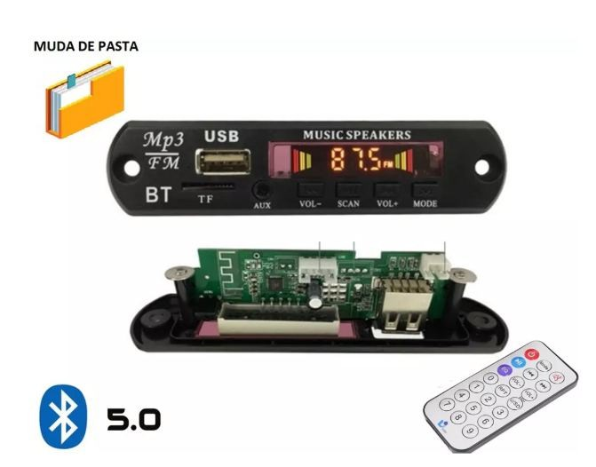 Placa P/ Amplificador Modulo Usb Mp3 Player 25.138