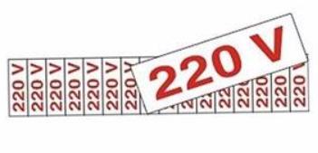 Placa Sinalizadora Etiqueta 220V 1.5x3x5x24cm com 12 peças 30.30.002