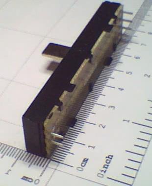 Potenciometro Deslizante P100KBx2 73mm 91.12.048