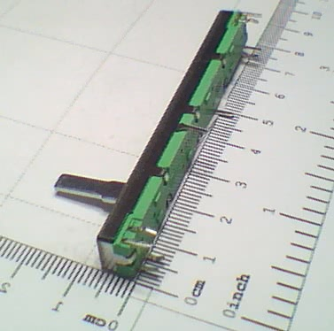 Potenciometro Deslizante P10KBx2 60mm Eixo 15mm 8 Pinos 91.12.051