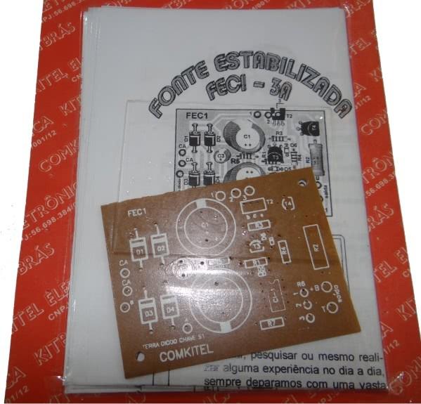 Projeto Fonte Estabilizada FEC1 3A Comkitel 43.06.008