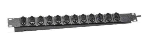 Regua de 12 Tomadas Metal para Rack 19